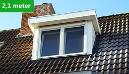 Prijsvoorbeeld dakkapel 2,1 meter