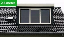 Prijsvoorbeeld dakkapel 2,6 meter