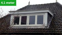 Prijsvoorbeeld dakkapel 4,1 meter