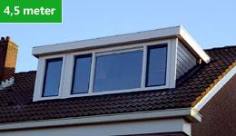 Prijsvoorbeeld dakkapel 4,5 meter