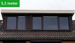 Prijsvoorbeeld dakkapel 5,2 meter