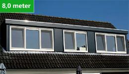 Prijsvoorbeeld dakkapel 8,0 meter
