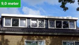 Prijsvoorbeeld dakkapel 9,0 meter